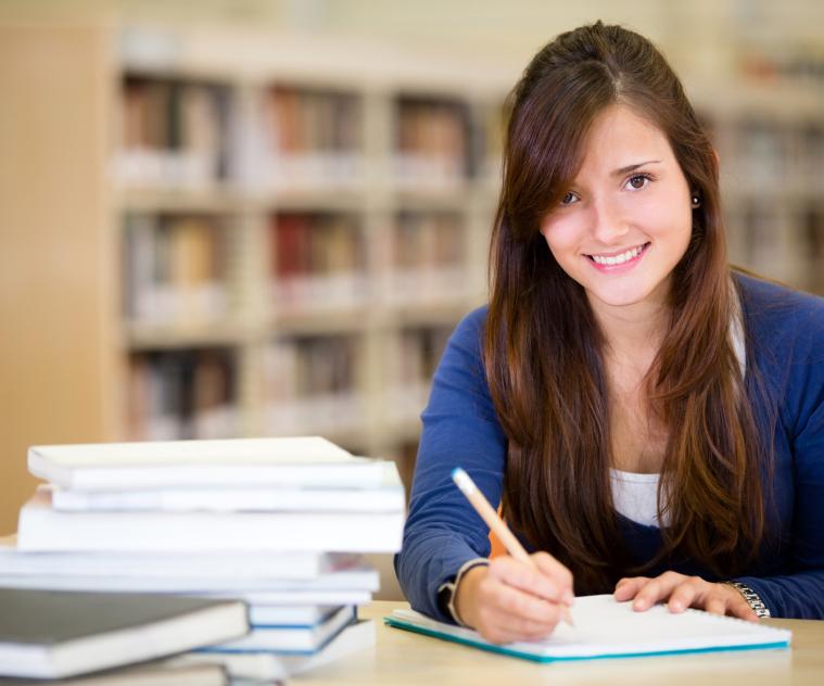 Tutoring happy student