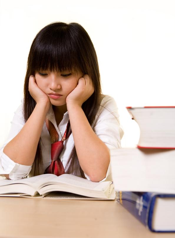 Tutoring sad student