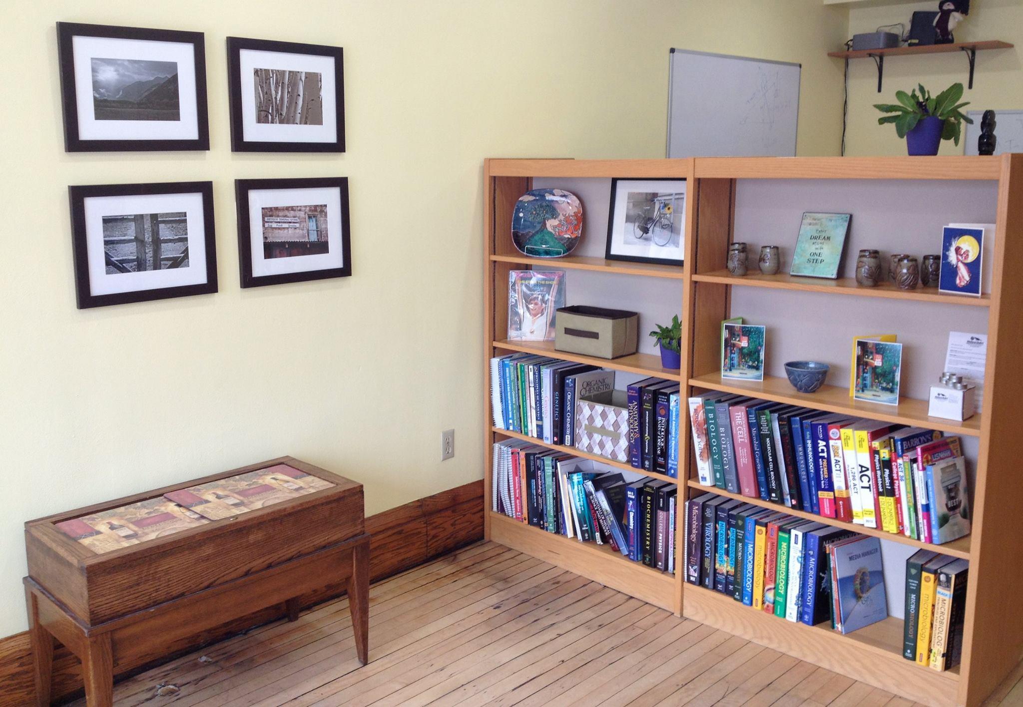 Tutoring Studio Shelves