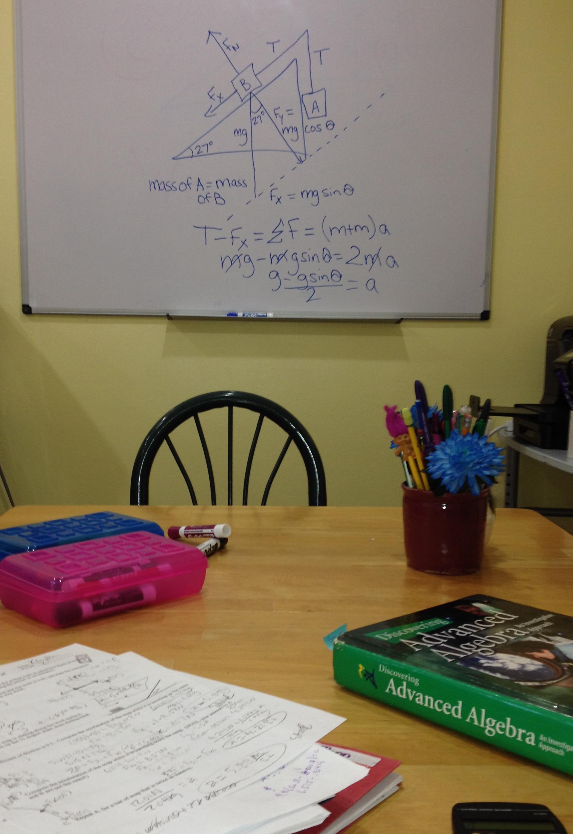 Tutoring whiteboard